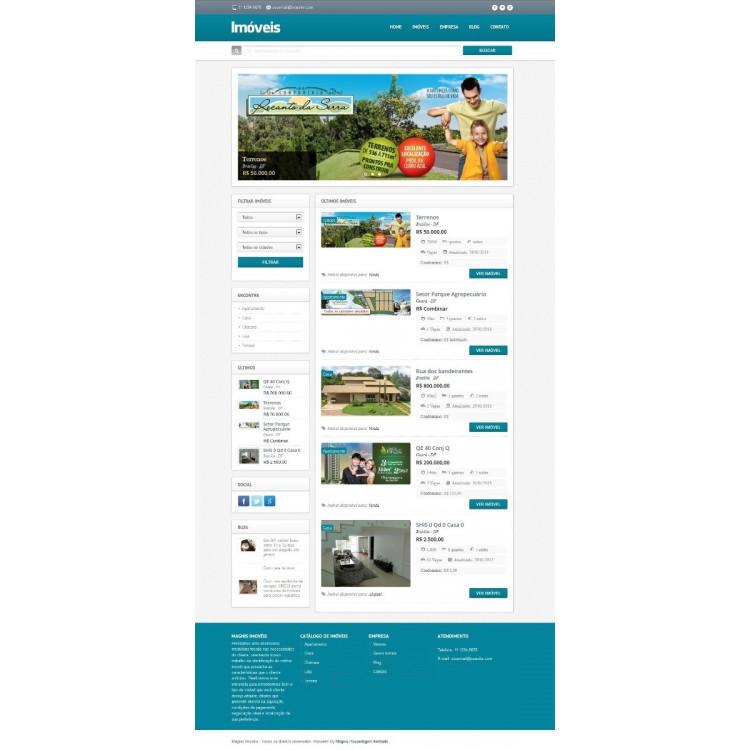 Script Site Imobiliária Corretores Sistema Php Responsivo
