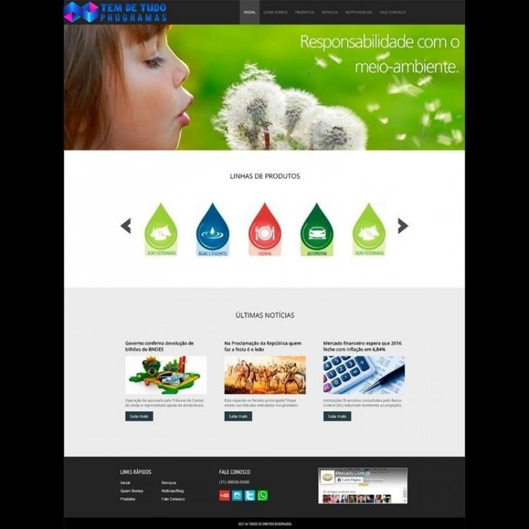 Site Responsivo Empresa Institucional E Produtos + Brinde