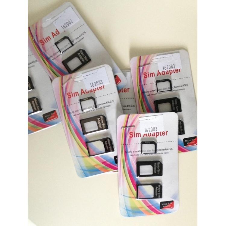Adaptador Kit Chip Micro Sim Para iPhone 3g 4g 5g iPad iPad
