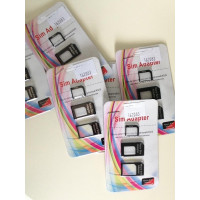 Kit Sim Chip Nano 3x1 Card iPad iPhone 5, 4, 4s, iPad E S3