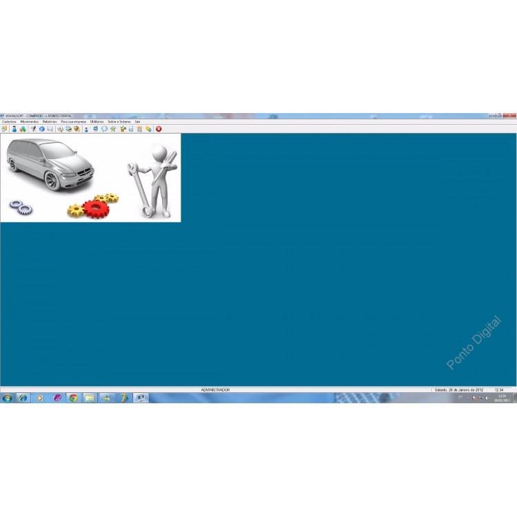 Sistema Programa Para Controle Estoque, Vendas, Caixa E Pdv